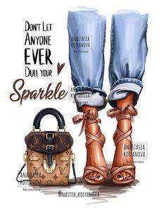 Black Girl Art, Black Women Art, Black Girl Magic, Fashion Illustration Chanel, Mode Poster, Dibujos Cute, Shoe Art, Mode Style, Fashion Sketches