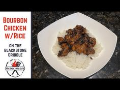 Bourbon Chicken and Rice on the Blackstone Griddle - My Backyard Life Hibatchi Recipes, Grilling Recipes, Chicken Recipes, Bourban Chicken, Camping Meal Planning, Blackstone Grill, Chicken Over Rice, Recipe For 4, Griddles