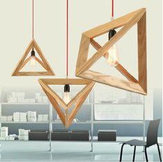 Aliexpress.com: Acheter Moderne mode Triangle bois Droplight contracté navette Pendant Lamp décoration lustre luminaire lampes de lumière led lampe fiable fournisseurs sur Zhongshan New Life Lighting Ltd