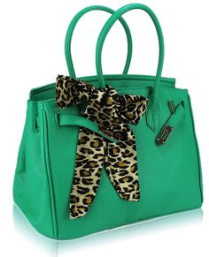 Want! Chic Teal Tote Bag with Chic Scarf Charm - Gala Evening Accessories