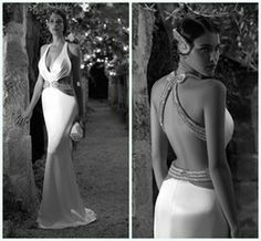 sexy open back wedding dress