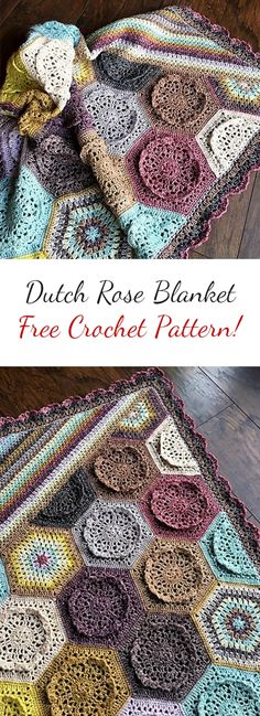[Free Pattern] Adorable Dutch Rose Crochet Blanket #crochetpattern #crochet #motif