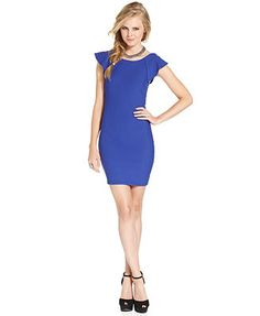 Trixxi Juniors' Open-Back Sheath Dress