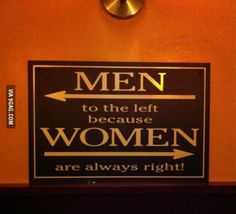 Men Left Woman Right funny humor funny quote funny quotes lol 605 ! I Love To Laugh, Make You Smile, Lol, Funny Bunnies, Humor Grafico, Man Vs, Thats The Way, Funny Signs, I Laughed