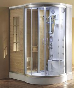 Steam shower sauna combo units. Why don't more people have these?? @bodysystems