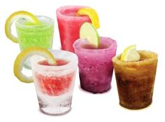 Awesome 21st Birthday Guys: Fairly Odd Novelties 12-Piece Ice Shot Glass Set