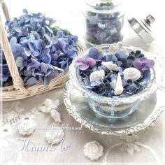 紫陽花のドライフラワーの作り方(シリカゲル・ホワイト紫陽花編)| 小さな幸せを重ねて。。。 Blue Flowers, Acai Bowl, Herbs, Purple, Food, Design, Acai Berry Bowl, Essen, Viola