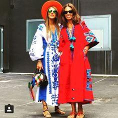 Vita Kin - modern Ukrainian design!! Love the blue and white dress!