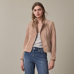 Roux  Suede Jacket - REISS : The roux suede jacket in  plays its part in our iconic jacket collection and is available to buy online at REISS.