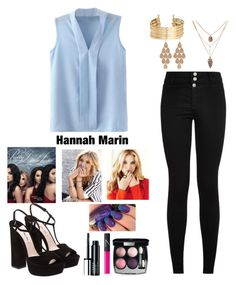 """Hannah Marin-pretty little liars"" by fashionistalove58 ❤ liked on Polyvore featuring Miu Miu, Clinique, NARS Cosmetics, Chanel, H&M, Irene Neuwirth and pll"