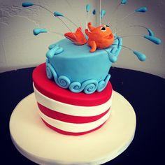 Dr Seuss birthday cake.