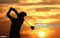 Sebastien Gros of France hits a shot during practice for the NBO Golf Classic Grand Final in Muscat, Oman. Warren Little, Getty Images Golf Photography, Silhouette Photography, Landscape Photography, Muscat, Sunset Silhouette, Sports Photos, Great Photos, Improve Yourself, Golf Courses