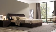 LOVE Platform Beds !   Giorgia - Contemporary Bedroom Layout with MisuraEmme's Beds
