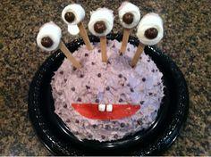 Monster Halloween birthday cake...so easy