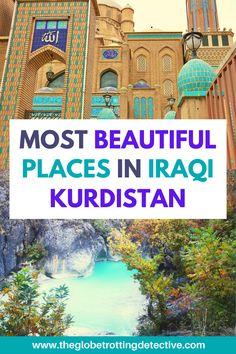 Best and most beautiful places to travel to in Iraqi Kurdistan: Erbil, Lalish, Alqosh, Rabban Hormizd Monastery, Mar Mattai Monastery, Akre, Soran, Rawanduz, Geli Ali Beg Waterfall, Bekhal Waterfalls, Zoragvan, Barzan, Deraluk, Amediya, Sulaymaniya, Ranya, Dukan Lake, Halabja I Middle East Travel I Best places to see in Iraqi Kurdistan I The most stunning travel destinations in Iraq I The most beautiful places to see in beautiful Kurdistan Iran Travel, Morocco Travel, Asia Travel, Travel Info, Travel Guides, Travel Tips, Travel Destinations, Beautiful Places To Travel, Best Places To Travel