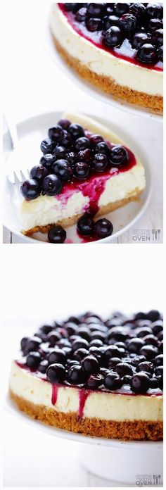 Lighter Blueberry Cheesecake ~ Easy Kitchen 4 All