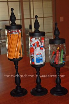 Make Your own Apothacary Jars(glass jars, candlesticks, and wooden plaques)