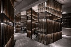 World Architecture Community News - Yiduan Shanghai International Design completes new restaurant with separated bamboo rooms in China Shanghai, Design Set, 3d Design, Bamboo Architecture, Interior Architecture, Amazing Architecture, Versailles, Bamboo Box, Shop Facade