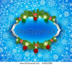 Christmas and New Year background, greeting card