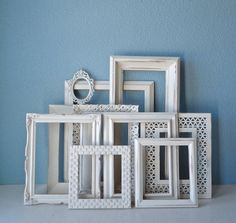 Wedding Picture Frame Set  Frames Painted in by TheArtofChic, $125.00