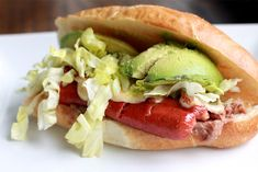 Mexican Torta with Hot Dogs