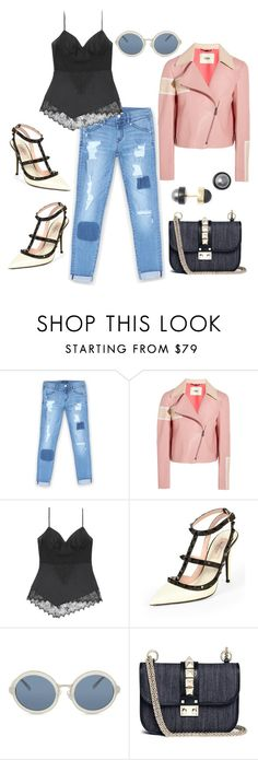 """leather and lace"" by astridlund on Polyvore featuring Bebe, Fendi, Valentino, 3.1 Phillip Lim and Marc by Marc Jacobs"