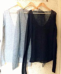 """grungeforfun: """" Black Mohair Sweater Loose Knit Sweater Grunge Slouchy Top Boho Sweater """""""