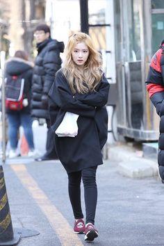 IRENE on her way to KBS Music Bank