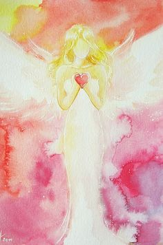 "Limited angel art photo ""love"" , modern angel painting, artwork,ideal also for picture frame, gift,spiritual,magic,mystic"