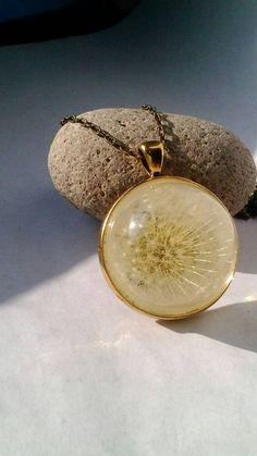 Dandelion necklace unique dandelion pendant make a by ZazieWorld