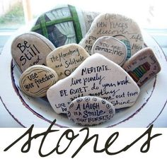"""Could put positive messages, or write negative ones and throw them away (relate to the """"sticks and stones"""" metaphor about how words can hurt too)."""