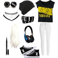 Nirvana clothing  by mikkibear09 on Polyvore featuring polyvore fashion style…