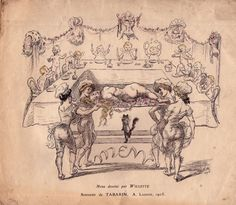 Adolphe Willette Menu Tabarin 1905
