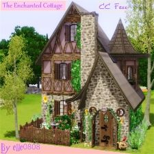 Building Games 90564642491000227 - The Enchanted Cottage -CC FREE by – The Exchange – Community – The Sims 3 Source by Minecraft Cottage House, Minecraft Houses, Sims Building, Building Games, Sims 4 House Plans, Sims 4 House Design, Casas The Sims 4, Sims 4 Gameplay, Sims 4 Toddler