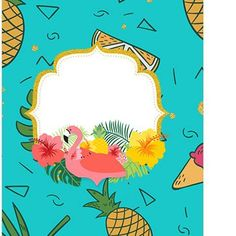 Tag Agradecimento Flamingo Tropical Kit Festa