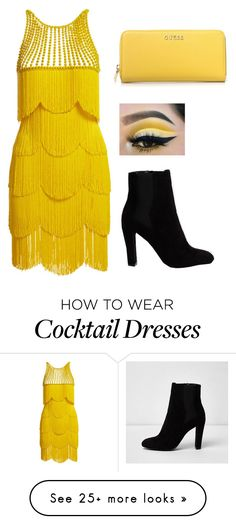 """""""Untitled #965"""" by hodandahir on Polyvore featuring Naeem Khan and GUESS"""