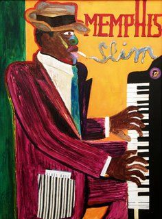 Memphis Slim, in art. Festival Posters, Concert Posters, Memphis Slim, Sleep With The Fishes, All About Jazz, Jazz Concert, Piano Art, Jazz Poster, Jazz Art