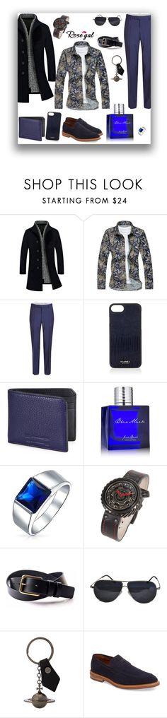 """ROSEGAL - STYLE MEN'S PRINT SHIRT"" by sarahguo ❤ liked on Polyvore featuring Baldessarini, Vianel, Uri Minkoff, Jack Black, Bling Jewelry, BMW, Vivienne Westwood, Gordon Rush, men's fashion and menswear"