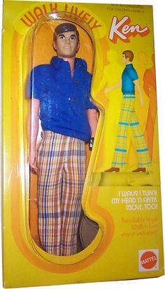 1972 Walk Lively Ken doll #1184