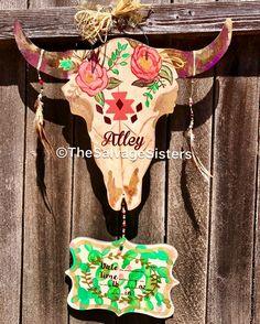 Cactus Hospital Door Hanger, Floral Cactus Nursery, Cow Nursery, Tribal Nursery, Succulent Decor, Birth Announcement, Cactus Decor  https://www.etsy.com/listing/538175615/cactus-hospital-door-hanger-floral