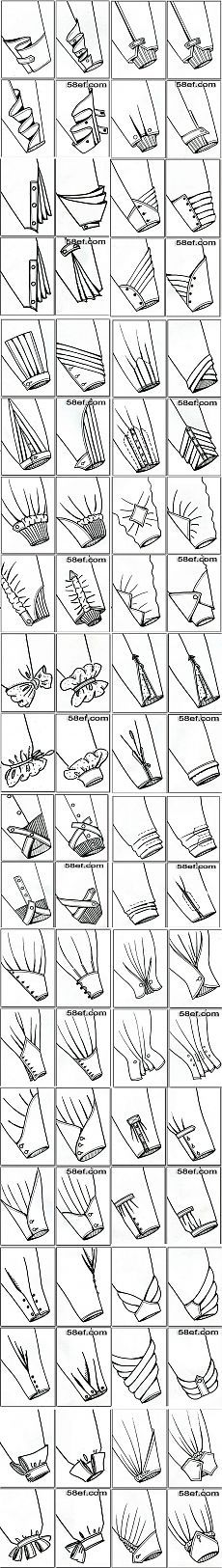 Ways to End Sleeves _ Extensive Diagrams of Ways to End a Sleeve  __________________________ НИЗ РУКАВА