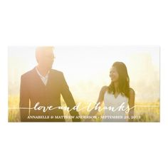 CALLIGRAPHY OVERLAY | WEDDING THANK YOU PHOTO CARD