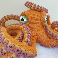 All free amigurumi crochet patterns and tutorials. Octopus Crochet Pattern Free, Giraffe Crochet, Crochet Fish, Crochet Eyes, Crochet Octopus, Crochet Patterns Amigurumi, Cute Crochet, Crochet Hooks, Free Pattern
