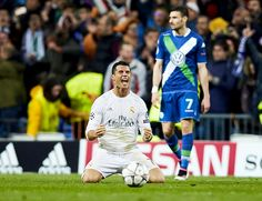..._Cristiano Ronaldo at the final whistle. Real Madrid 3 Wolfburg 0.