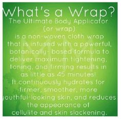 Let me wrap you up!!! So simple!! It takes 45 mins!!!  Contact me today at https://kacywhite.myitworks.com