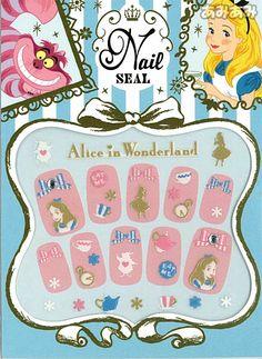 Alice in Wonderland nail art stickers