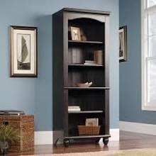 Sauder Harbor View Library Bookcase in Antiqued Black Numerous sources, shop online for best price. Another option to replace my bookshelves, and would match the Harbor View armoire and piers I have my television and displays in.