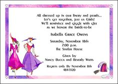 Bridal shower tea party invitation diy party ideas pinterest bridal shower invite for fancy hat theme stopboris Image collections