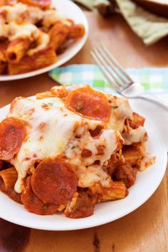 You favorite pasta combined with savory pizza toppings, the sky is the limit with this easy to make one pot meal!