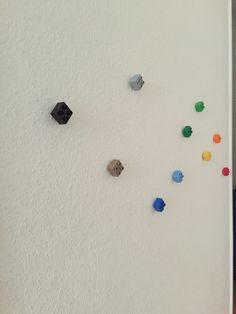 DIY Lego Duplo Coat Hooks